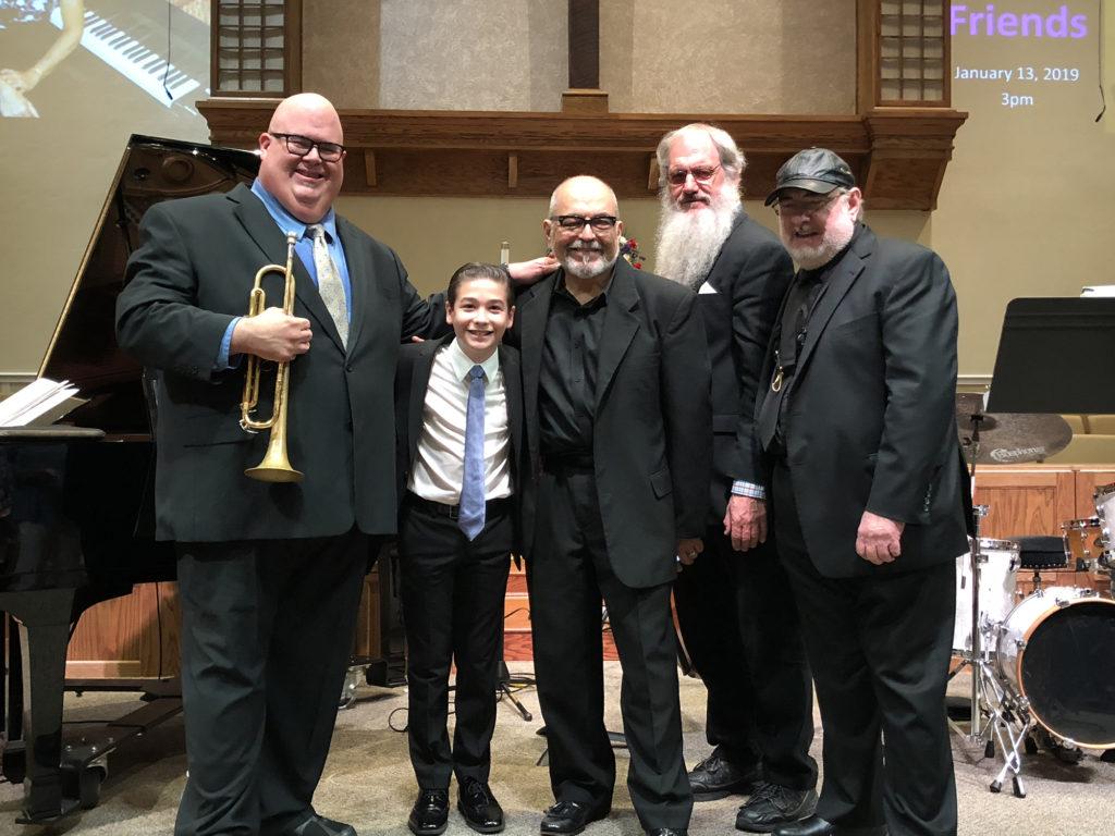 L-R: Dan Miller, Brandon, Marty Morell, Richard Drexler, Lew Del Gatto